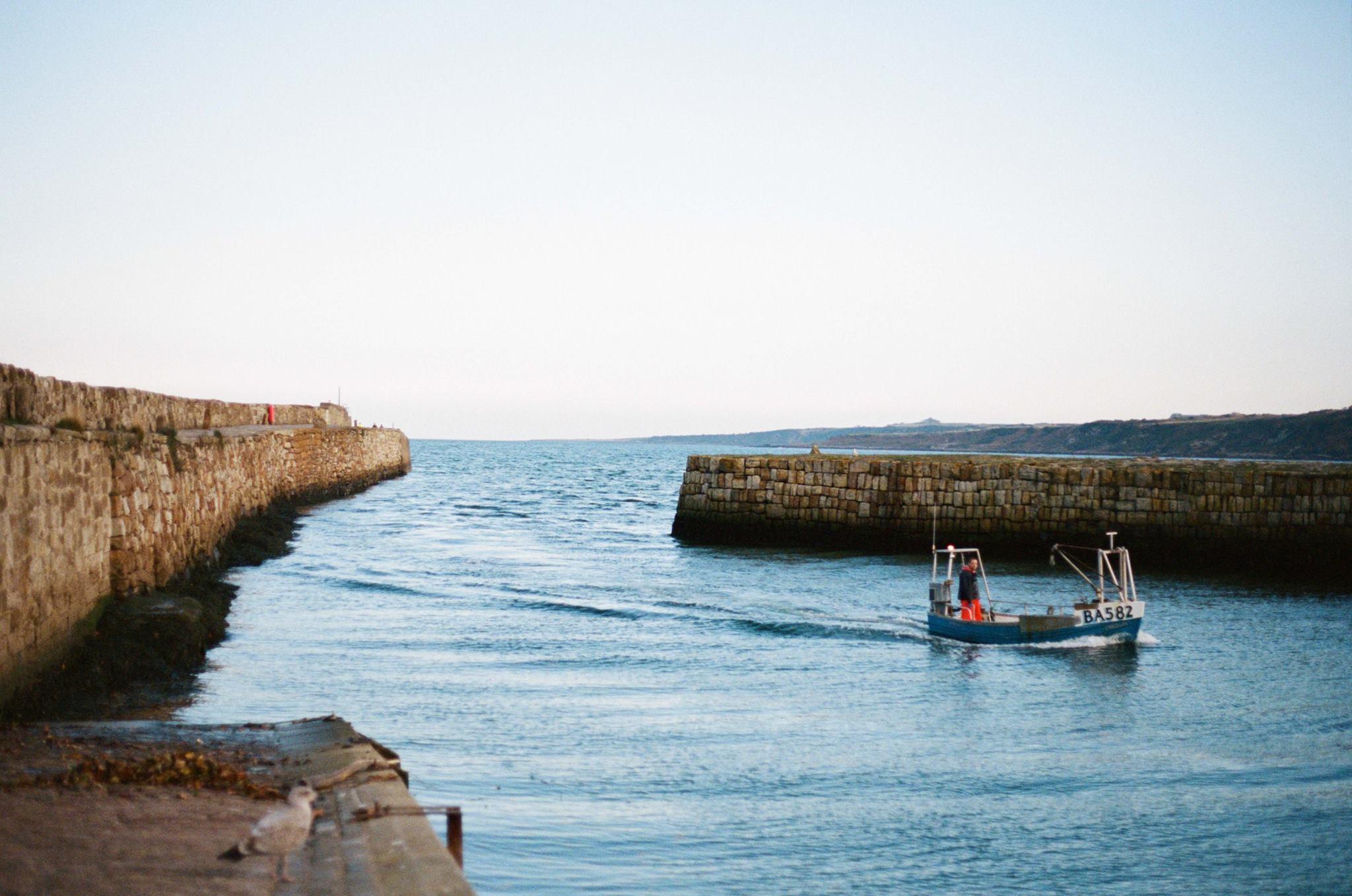 A harbor in St. Andrews Scotland, 35mm Porta 400