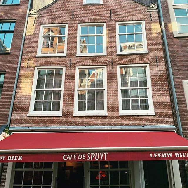 My new Amsterdam home!  3 floors above a cafe!  Boots love vertical living!