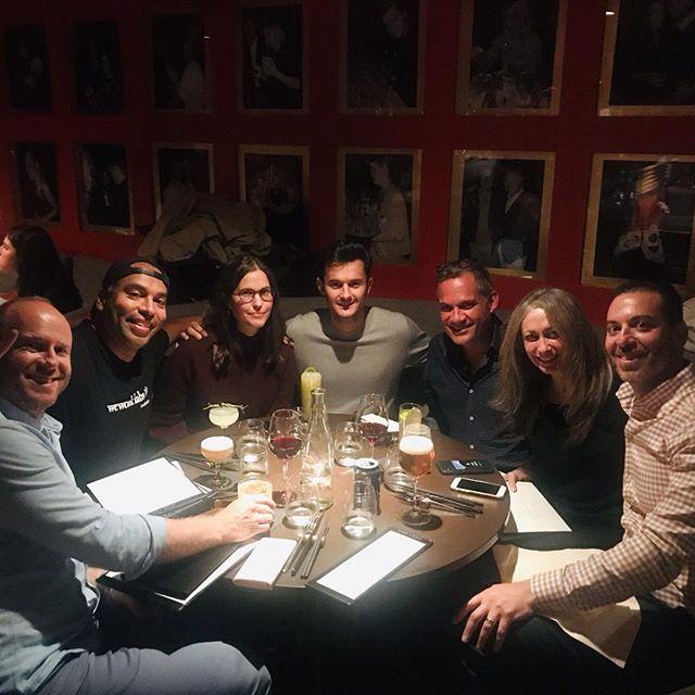 Power dinner in Stockholm with CapA partners David & Tanya, fellow TechStars MD Martin, Techstars Alum Francesco, CFO HBO Nordic Brett and friends!