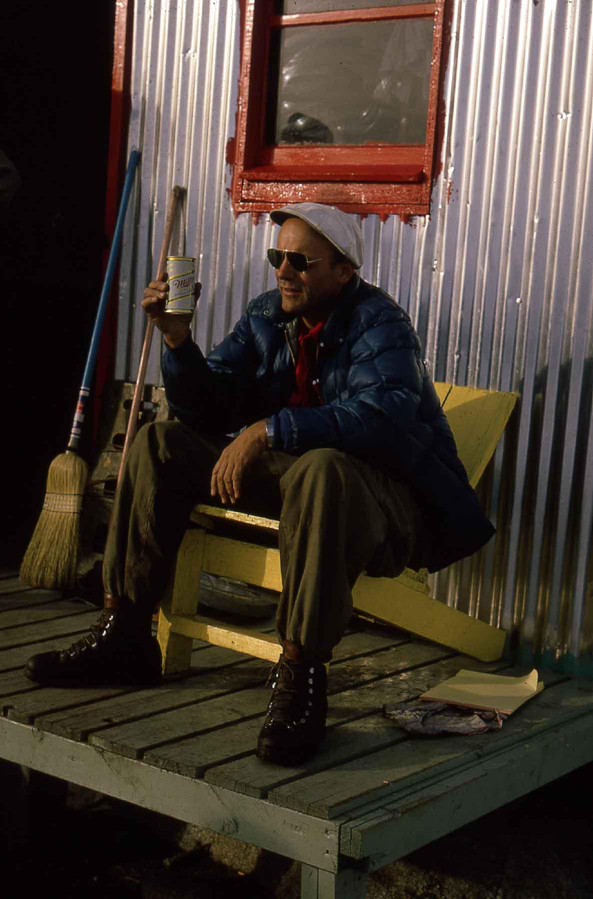 Maynard Miller, Camp 10, Taku Glacier, 1966