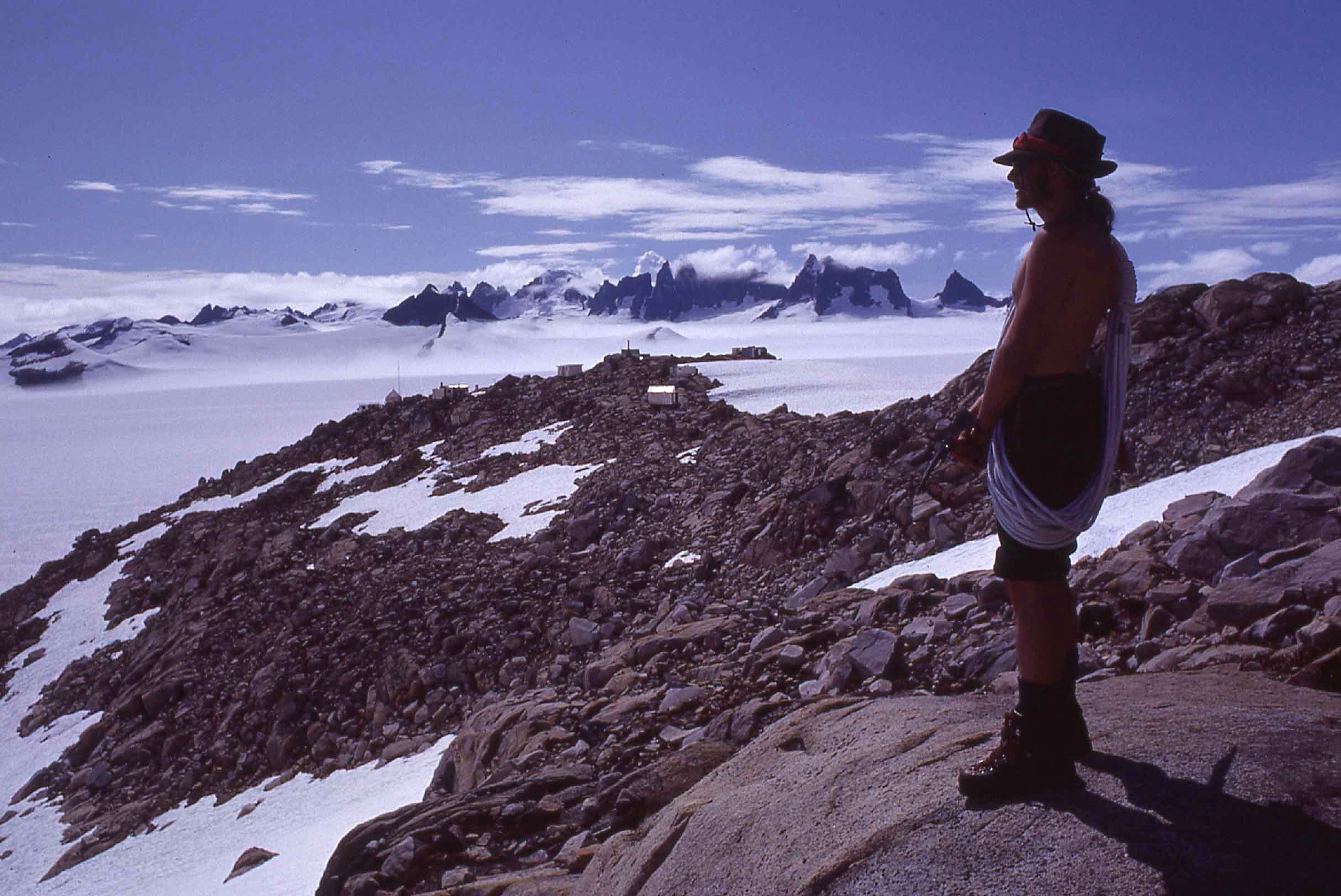 [name unknown], Camp 10, Taku Glacier, 1980