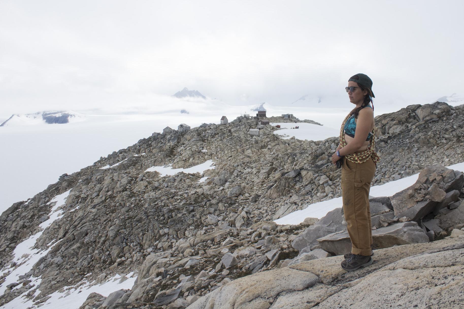 Hannah (self-portrait), Camp 10, Taku Glacier, 2017