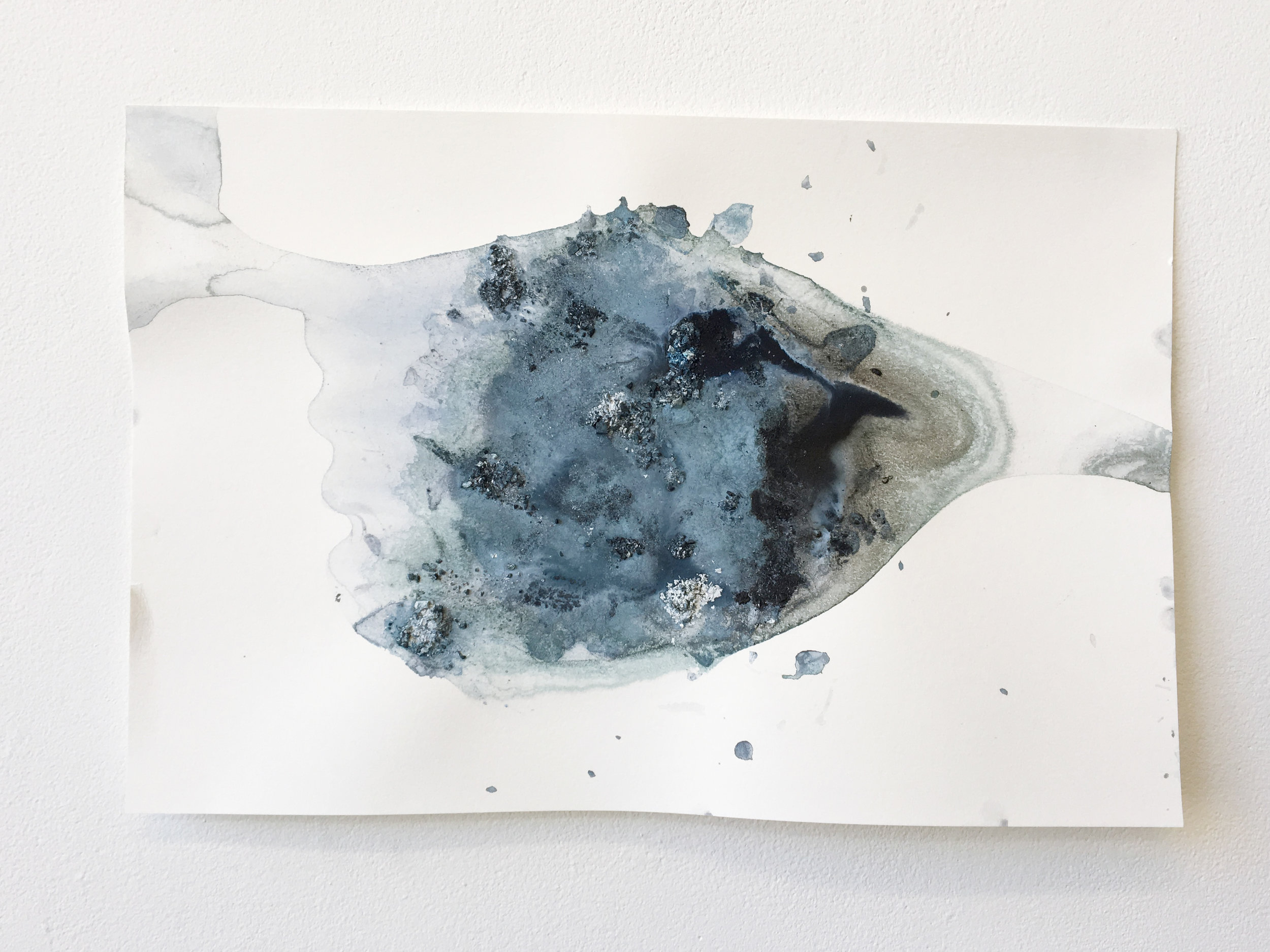 Flow #4     | 2016 | 12x18in | ice (pigment, acrylic paint) melted on paper |  $200