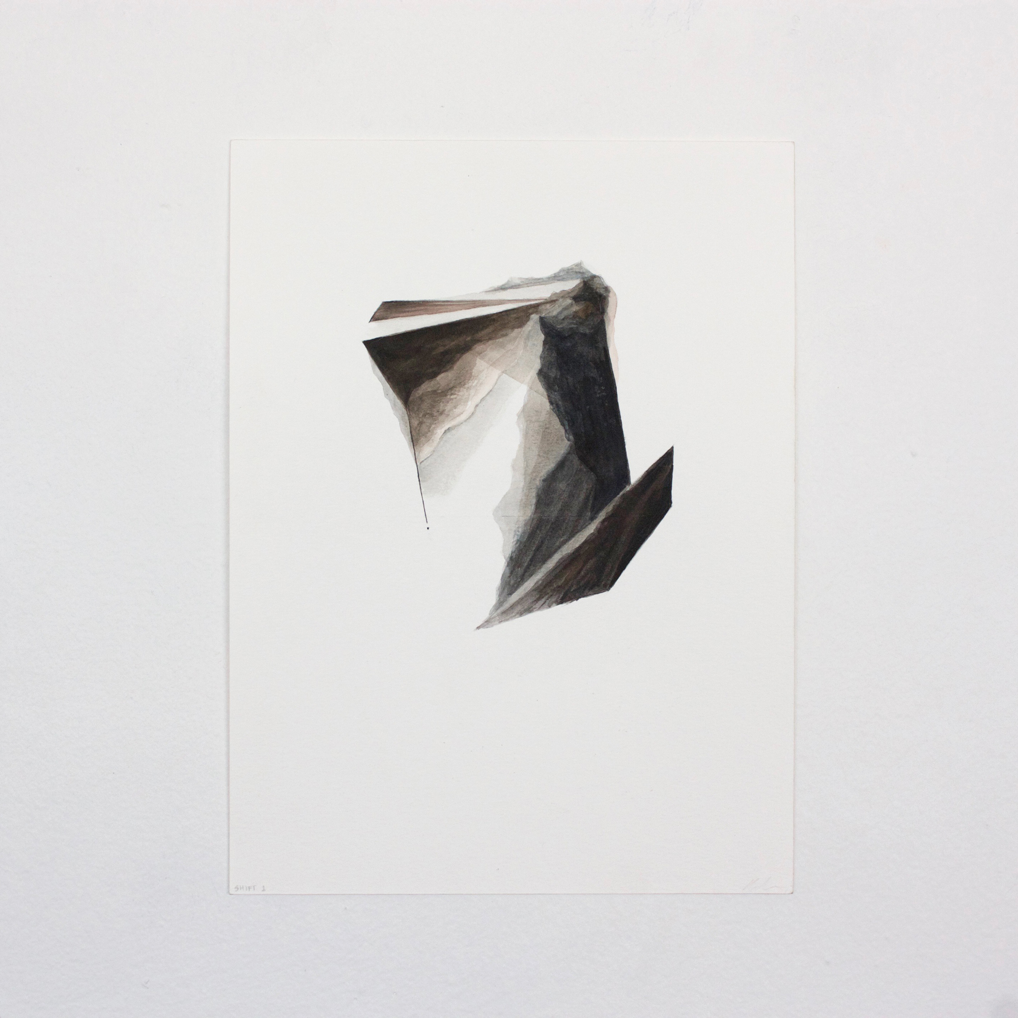 Shift #1  | 2016 | 12x9in | watercolor on paper |  $100