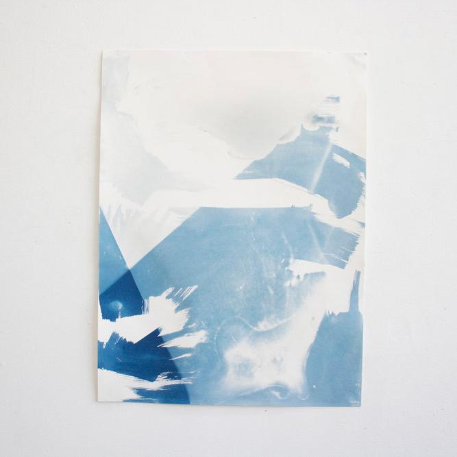 Untitled (sun)  | 2017 | 18x24in | Cyanotype on paper |  $300