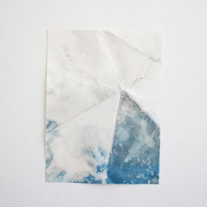 Untitled (rain)  | 2017 | 18x24in | Cyanotype on paper |  $300