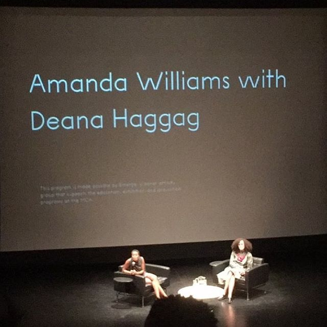 Amanda Williams in conversation with Deana Haggag this evening. Amanda's first MCA Solo show on view until Dec 31.