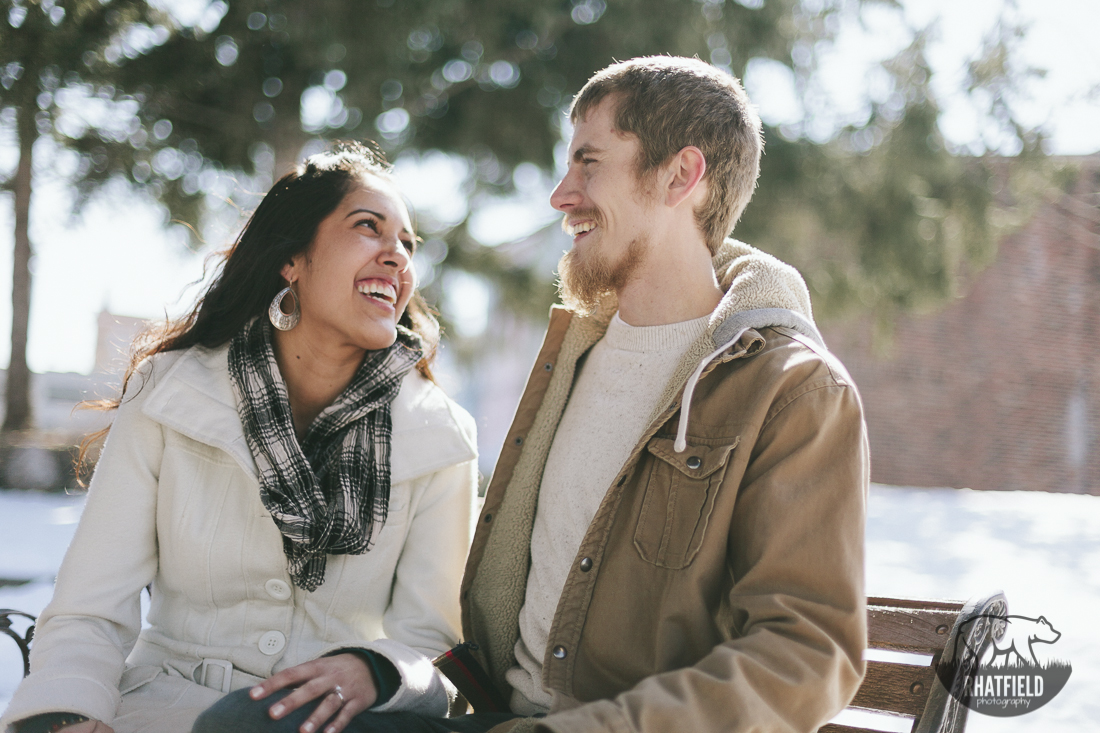 Laughing-together-engagements-snowy