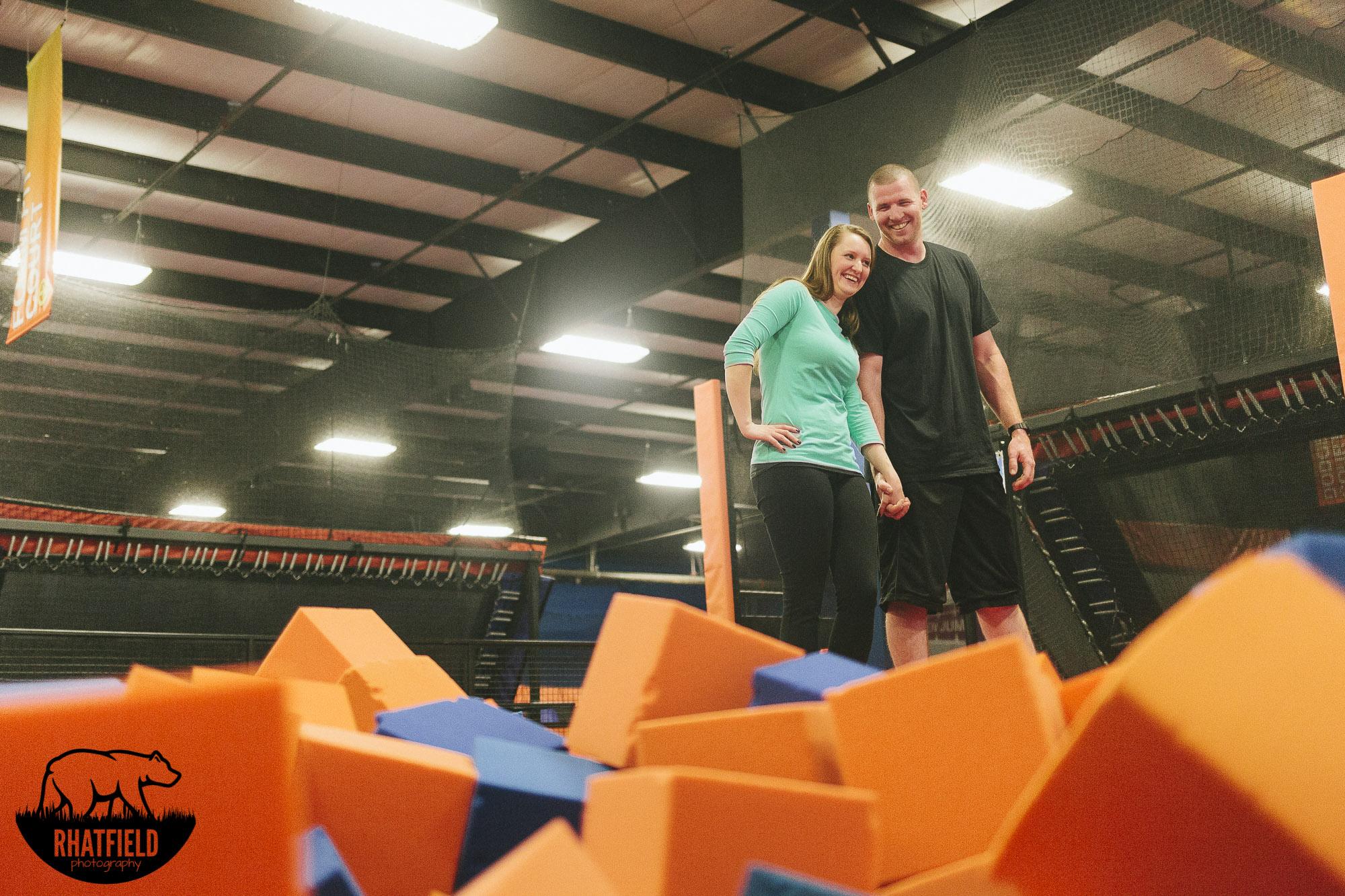 couple-standing-foam-pit