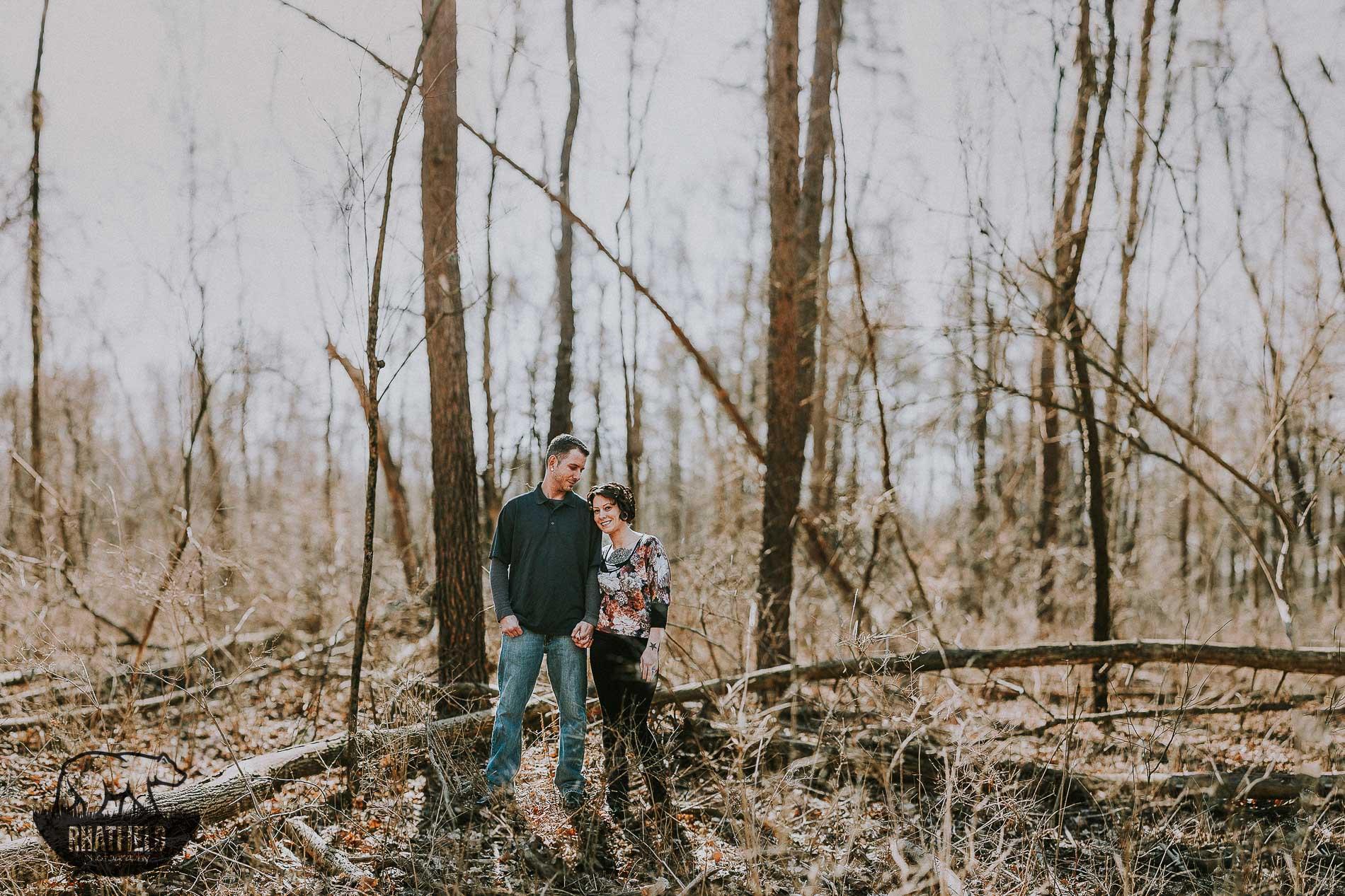 Anthony & Ashley Eagle Creek State Park Fall Engagements www.RHatfieldPhotography.com