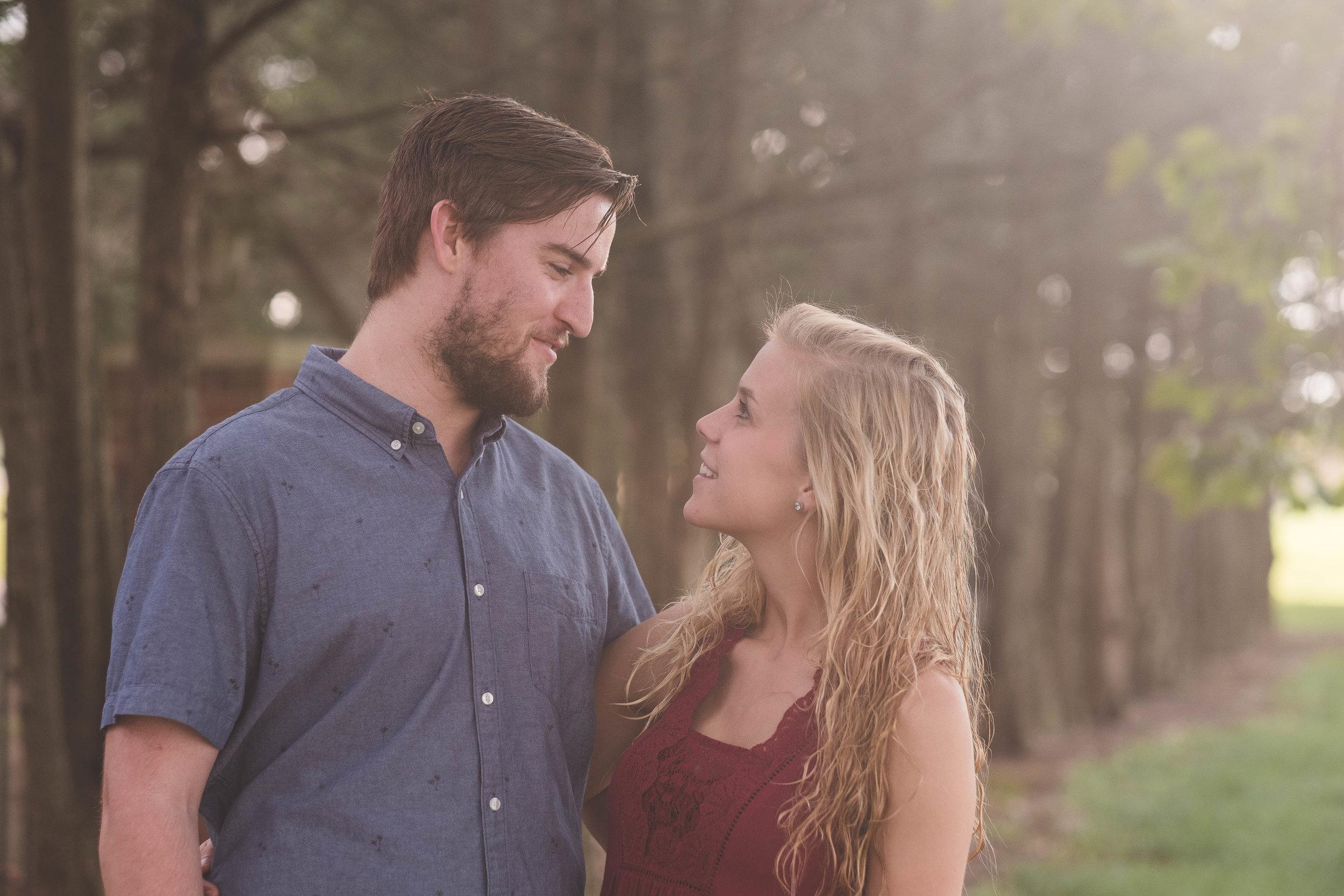 Kristen and Spencer's CoxHall Garden Engagements Carmel Indiana - www.RHatfieldPhotography.com