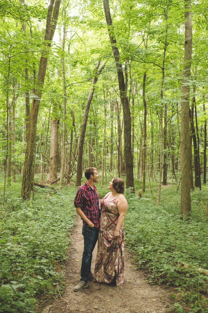 Jacob and Nicole's Richey Woods Nature Preserve Engagement Session Fishers IN - www.RHatfieldPhotography.com