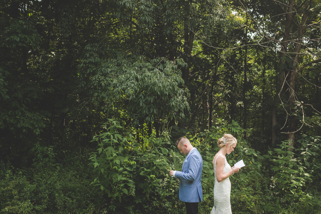 Doing a first look gives you a few moments together before everyone arrives.
