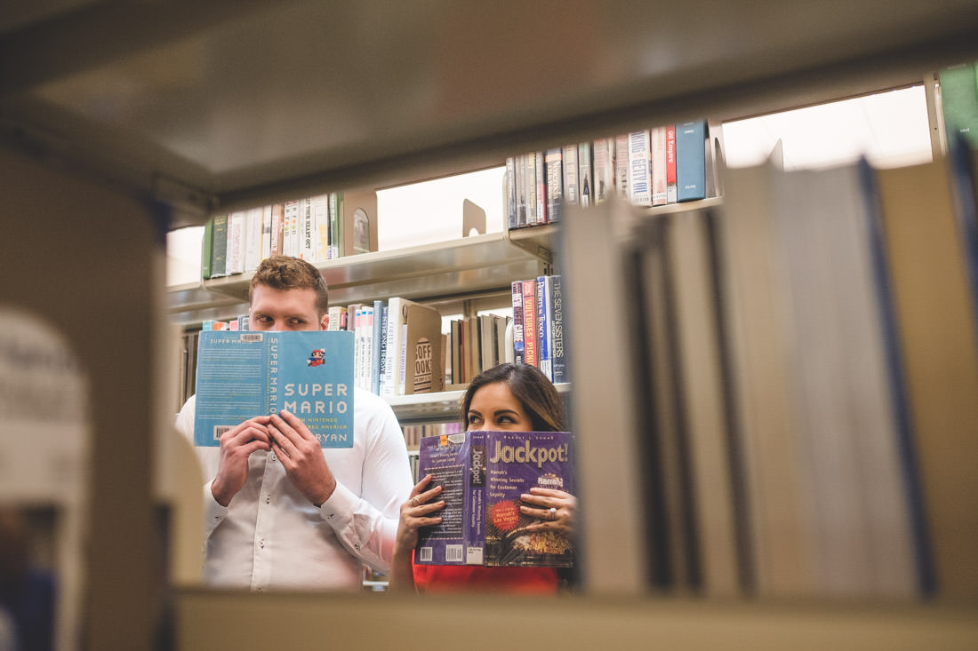 Melissa & Cameron Indianapolis Public Library Engagements Indianapolis Indiana - www.RHatfieldPhotography.com