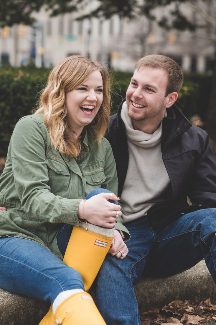 Maggie & Alex Downtown Indianapolis Engagement Session - www.RHatfieldPhotography.com