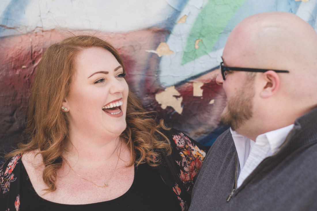 Caitlyn and Sean's Downtown Broad Ripple Engagement Session - www.RHatfieldPhotography.com