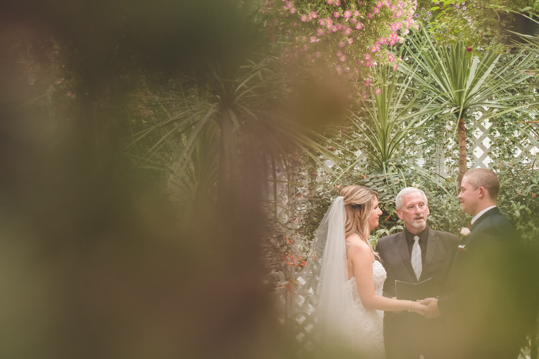 What does a wedding officiant say to bride and groom