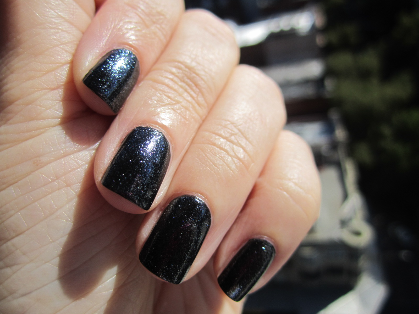 Essie Black Licorice and Pure Pearlfection