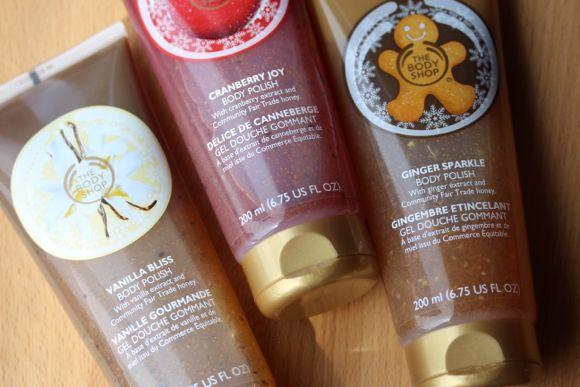 Body Polish in Vanilla Bliss, Cranberry Joy & Ginger Sparkle