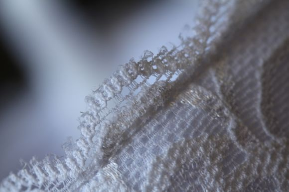 Extreme close up of lace