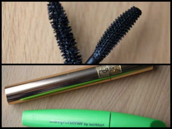 YSL's Mascara Volume Effect Faux Cils no. 1 versus Covergirl's Clump Crusher by Lashblast in Very Black