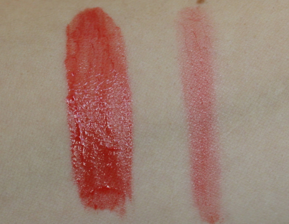 Swatch of Princess – heavy (left) and light (right)
