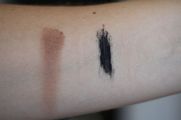 Swatches from left to right: Chocolate Soleil, Shadow Insurance, Better Than Sex and Primed & Poreless