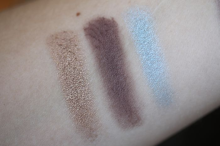 Swatches from left to right: Bronze, Taupe and Turquoise