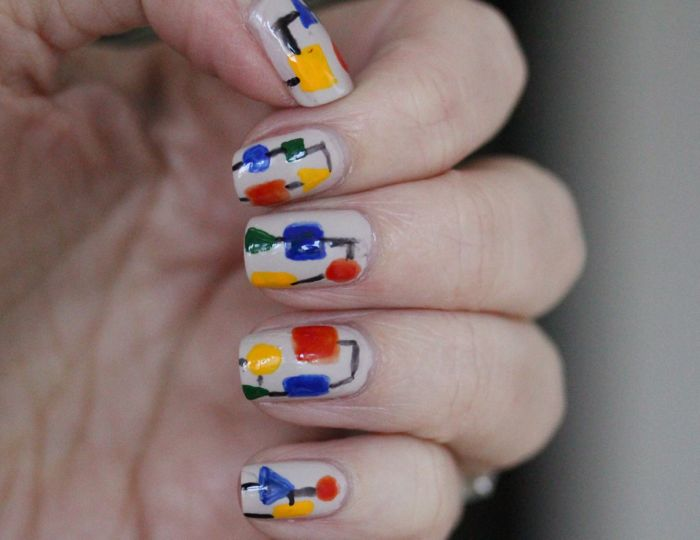 Mondrian-inspired Nail Art by Erin