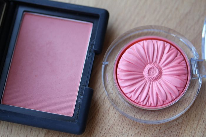 At first glance: NARS Gilda (left) and Clinique's Peach Pop (right)