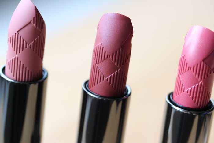 Burberry Lipstick shades (from left to right): Pink Heather, Rosewood and Tea Rose