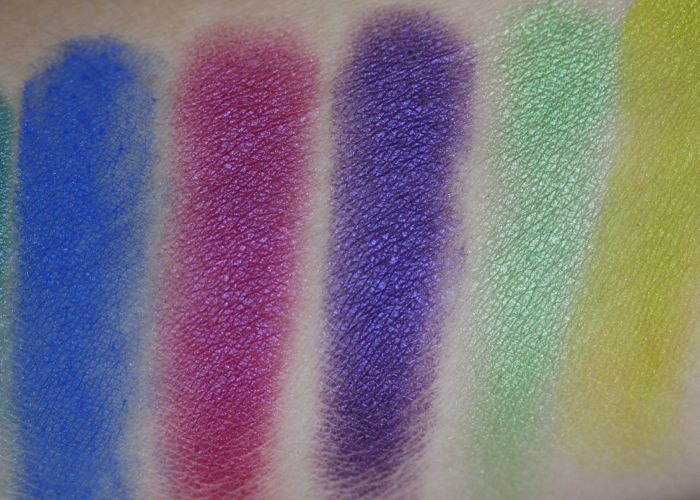 Swatches from left to right: Gonzo, Jilted, Urban, Freak and Thrash