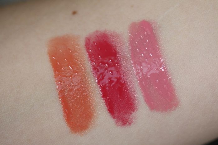 Swatches from left to right: Mirage, Vertigo and Kiss Me