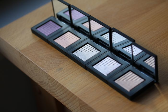 NARS Dual Intensity eyeshadows from left to right: Phoebe, Europa, Dione, Callisto and Himalia