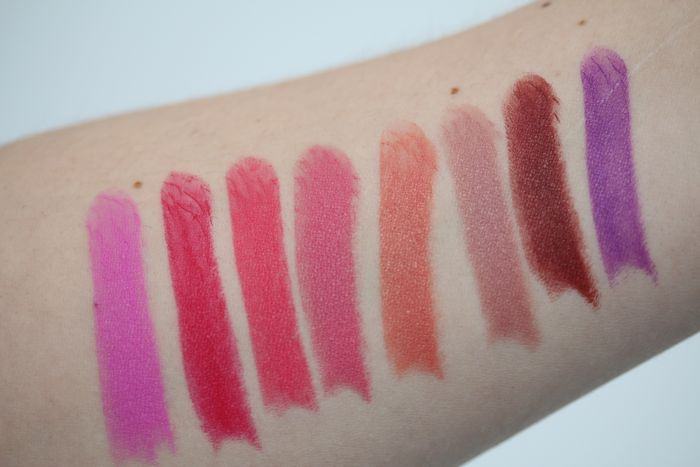 Shanghai Suzy Swatches from left to right: Miss Courtney, Miss Mia, Miss Christina, Miss Bree, Miss Olivia, Miss Leah, Miss Nicole and Miss Ally