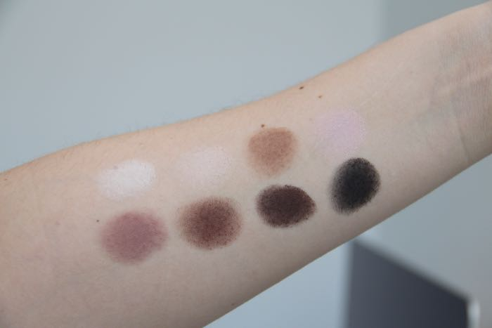 Pro Palette swatches from left to right starting with the top row: White, Cream, Taupe, Light Pink, Mauve, Sable, Espresso and Black