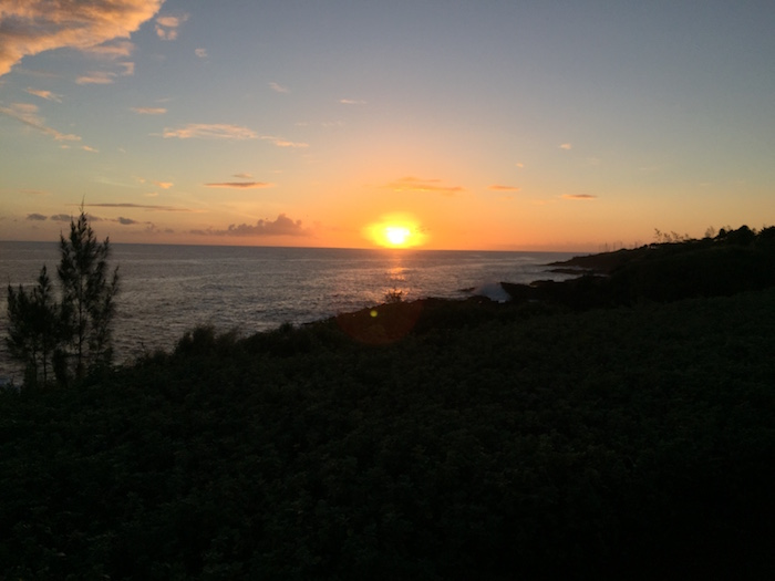 Sunset captured at Spouting Horn, Kaua'i
