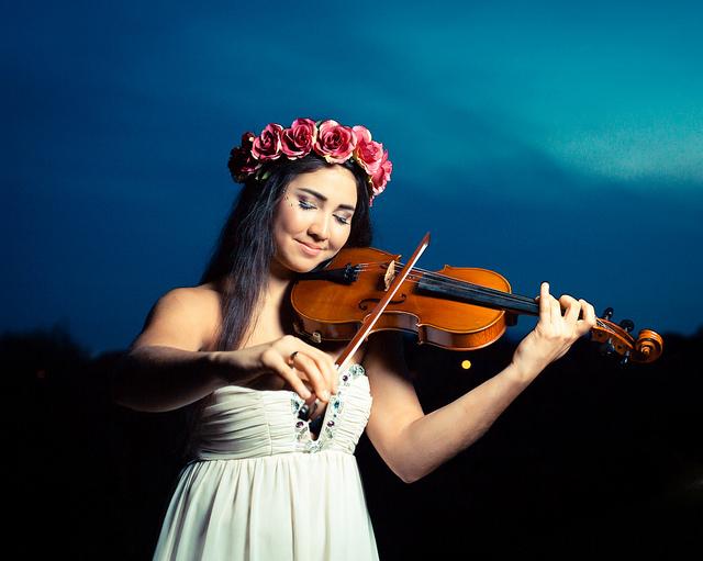 Photo:  Violinist  by  pbkwee