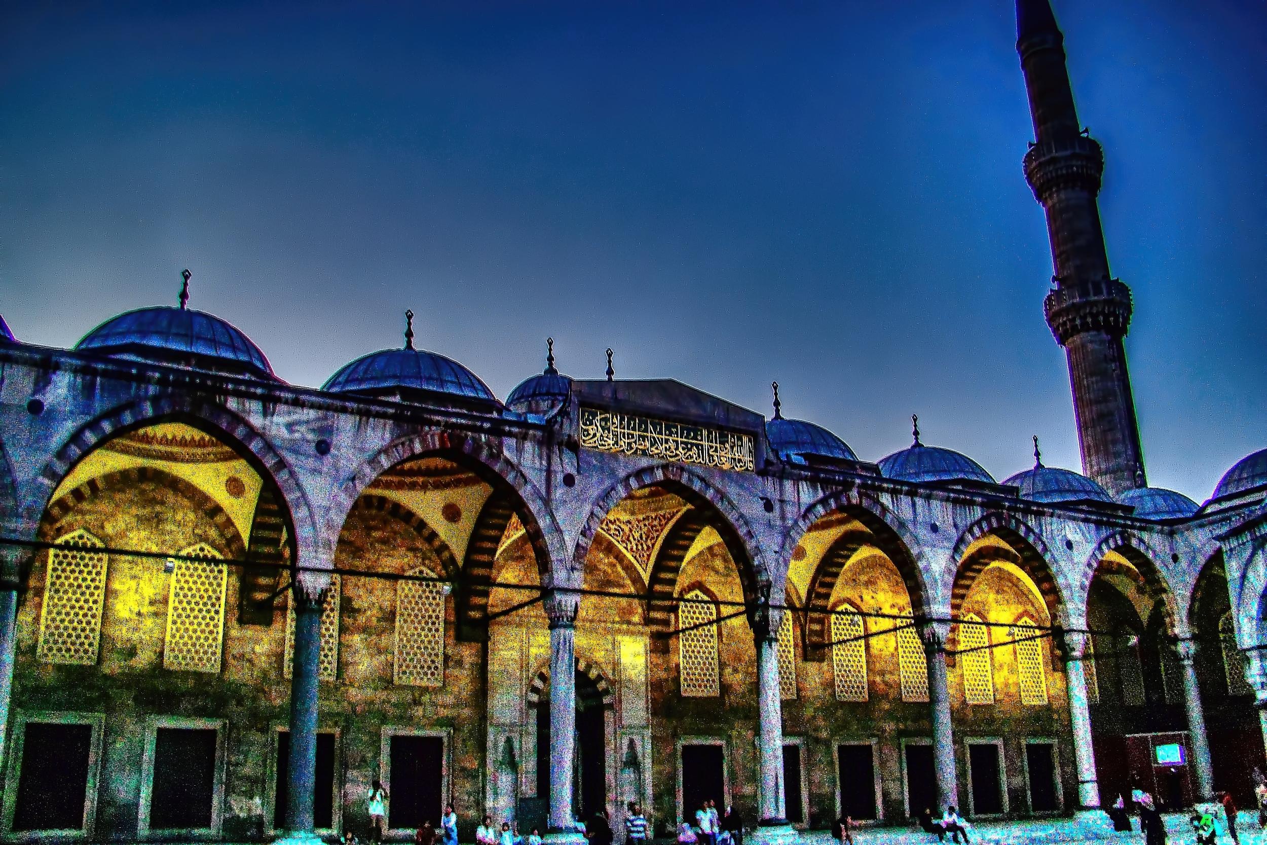la mezquita azul por fuera es una belleza, quiero conocerla por dentro