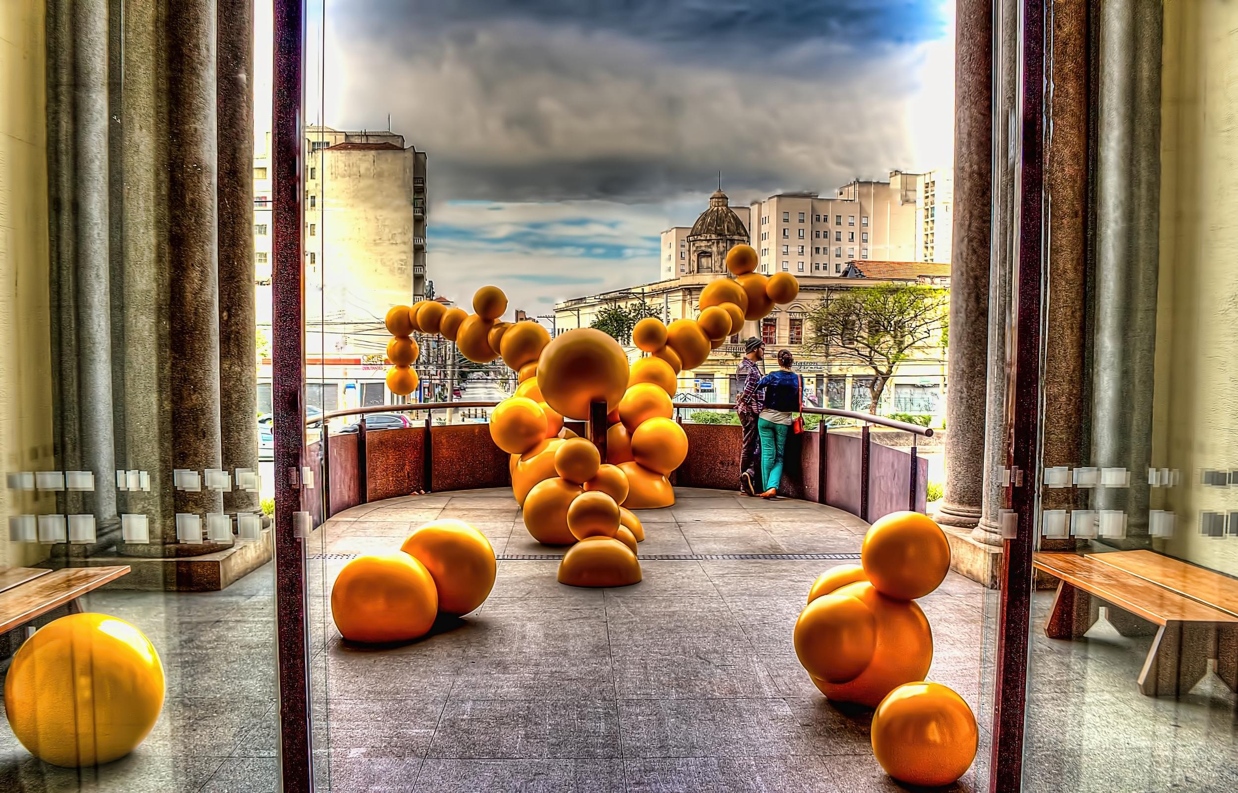 Balcón de la pinacoteca du el estado de Brasil.