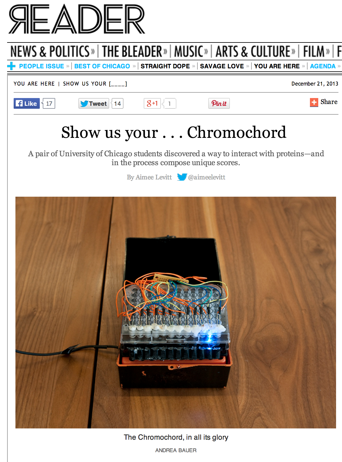 The Reader discovers Chromochord