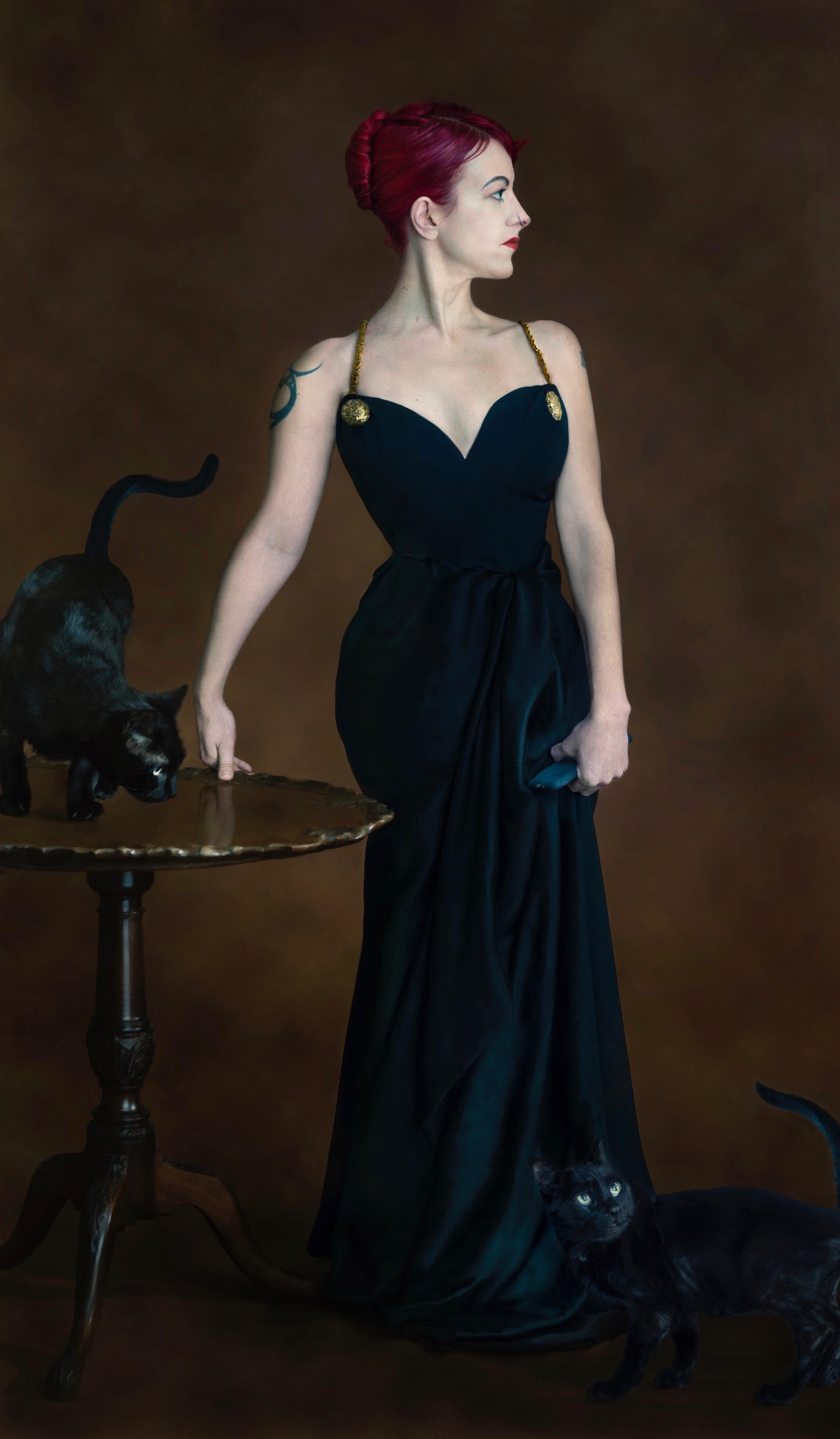 """Chrystyne as Madame X for the """"Cat Women"""" series.  Photographer: Brooke Hummer"""