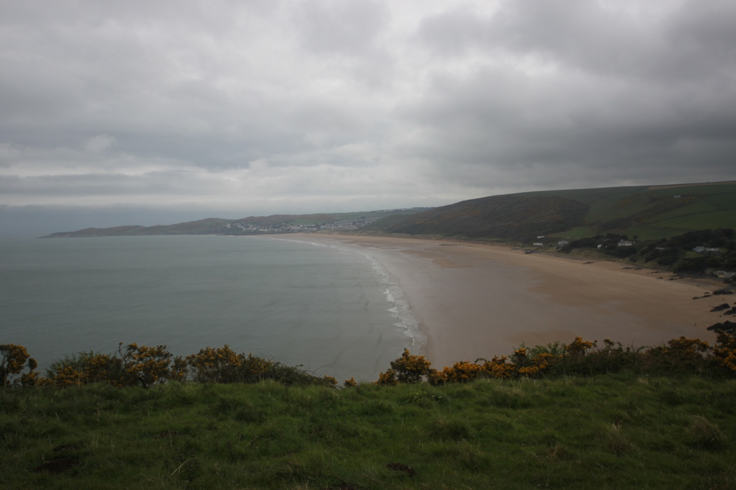 view back to woolacombe
