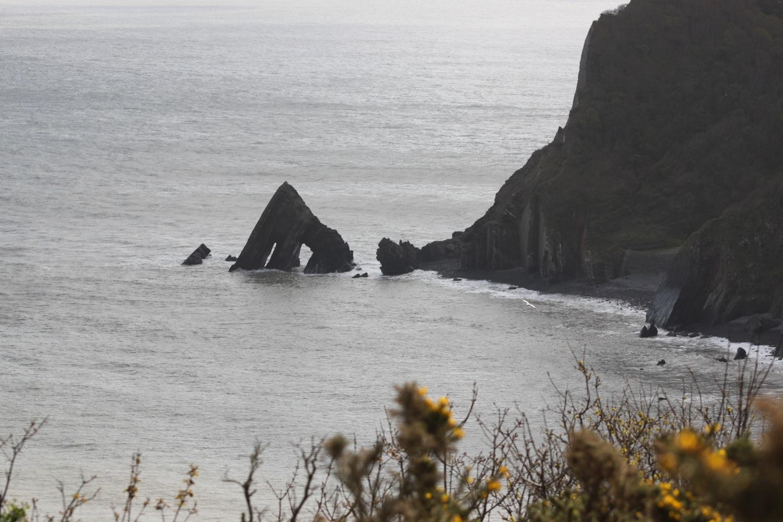 view back to blackchurch rock