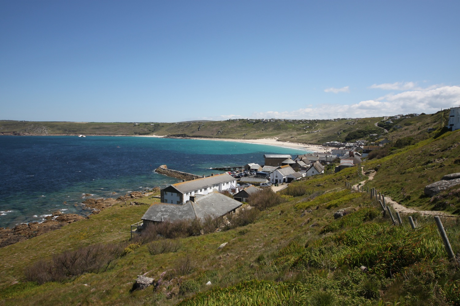 view back to sennen cove