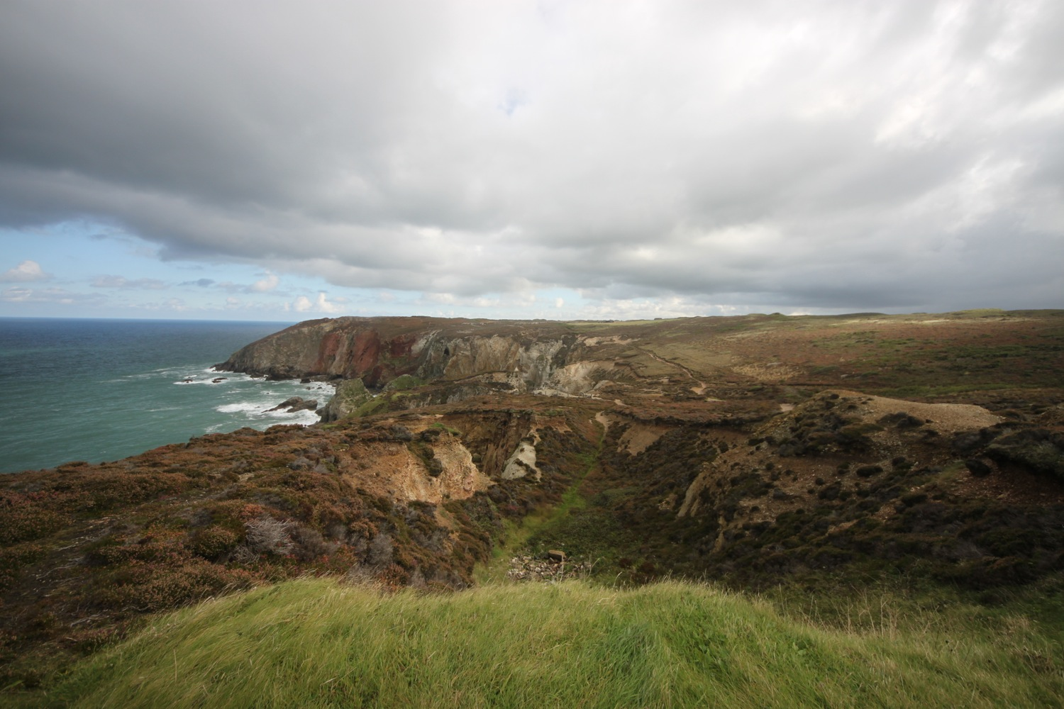 view back over cligga head