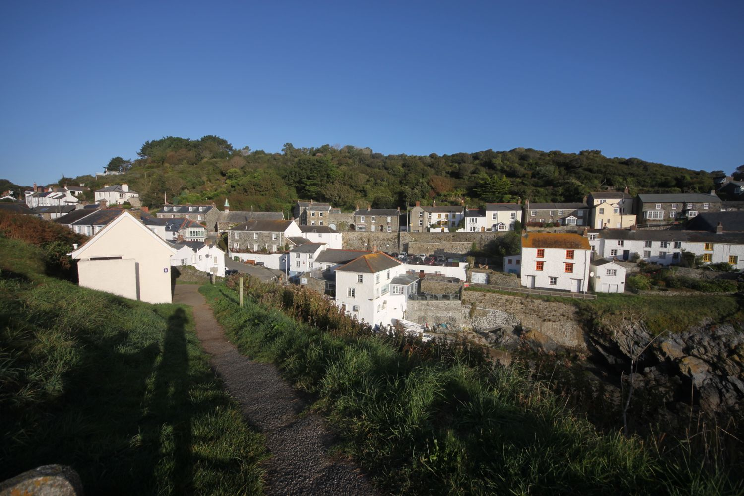 looking back across portloe