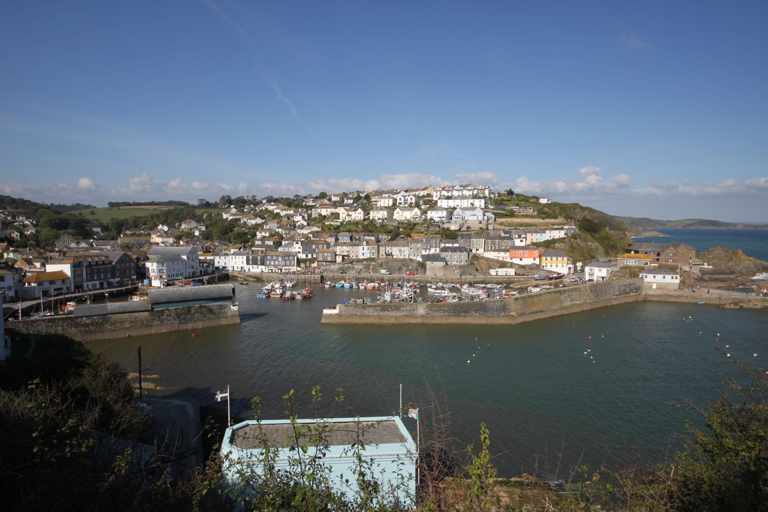 view over mevagissey