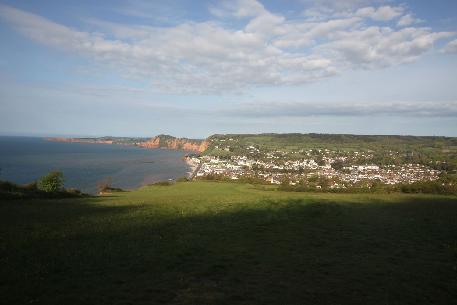 view back to sidmouth