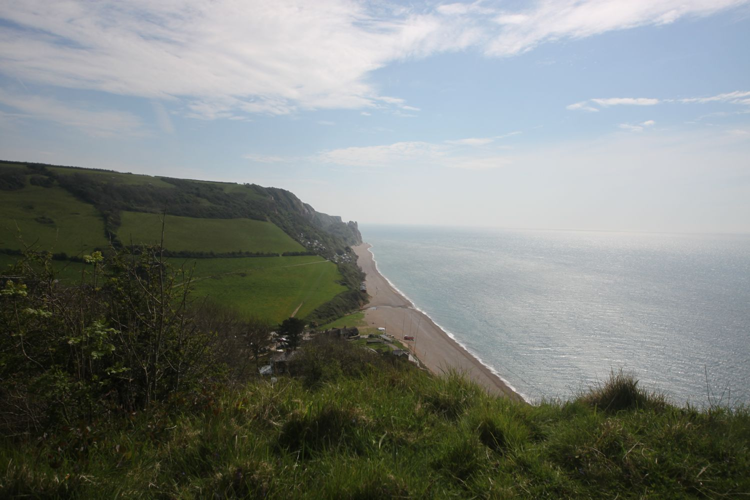 view over branscombe mouth